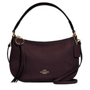 Coach Sutton crossbody in polished pebbled leather